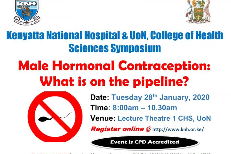 Symposium on 'Male Hormonal Contraception: What is on the pipeline?' on Tuesday 28th January, 2020